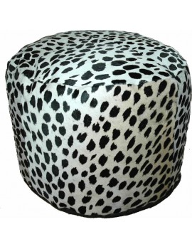 pouf peau de vache dessin leopard. Black Bedroom Furniture Sets. Home Design Ideas