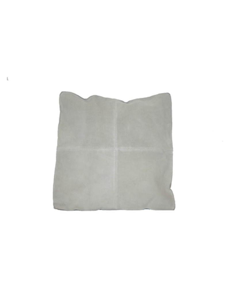 Cushion light grey, imitation sude, 50x50 cm