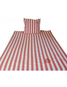 Dekbedovertrek Stripes oranje 140x220
