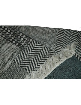 Plaid Patchwork met fringes Scapa Home