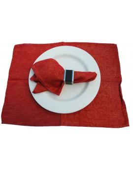 Placemat Shiny rood 38x49 cm Scapa Home - set van 6
