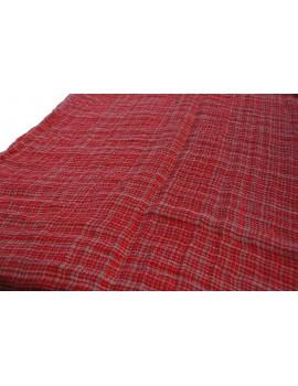 Tafelloper rood Double Face 48x150 cm - Set van 2