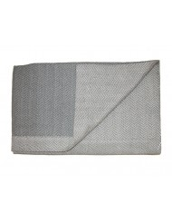 Plaid Bamako grey Scapa Home 140x180