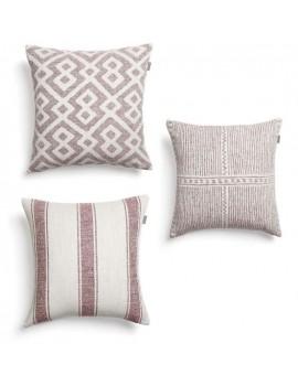 Set van 3 'Mello' kussens - roze