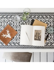 Deco mat tiles grey 50x100