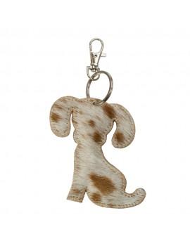 Key chain dog brown