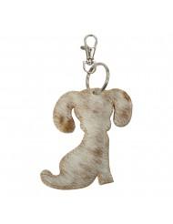 Sleutelhanger hond bruin