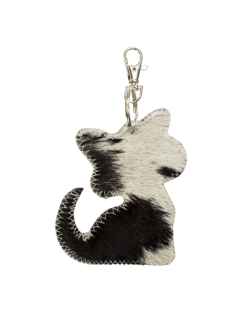 Sleutelhanger kat zwart