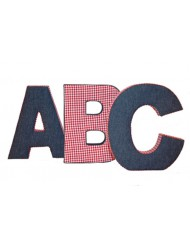 Set ABC jeans - red checked tissue. Flamant
