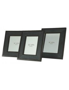 Leather photoframe Shagreen square