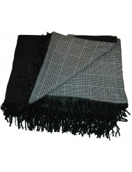 Grey Plaid Leather Fringes Scapa Home